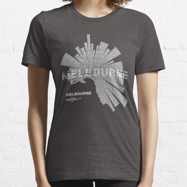 Mapa de Melbourne Camiseta esencial