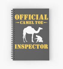 Cuaderno de espiral Inspector oficial del dedo en camello