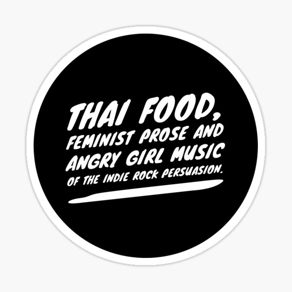 10 Things I Hate About You - Thai Food Sticker