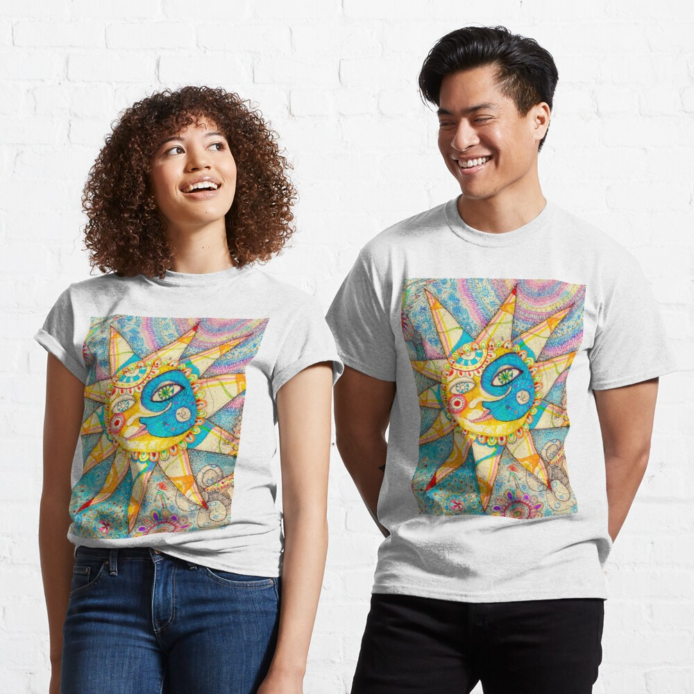 The Lady, The Sun and The Shooting Star Classic T-Shirt