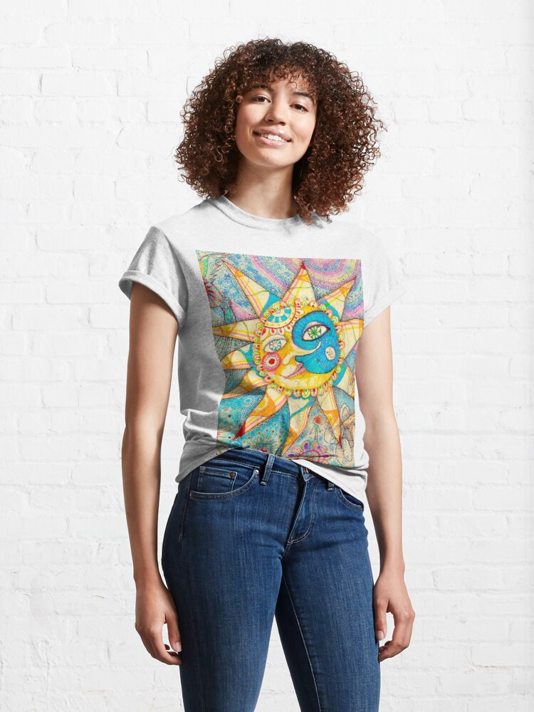 Alternate view of The Lady, The Sun and The Shooting Star Classic T-Shirt