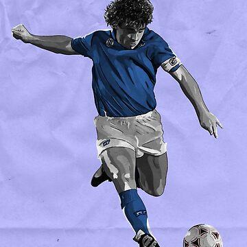 Diego Maradona - Napoli by barrymasterson