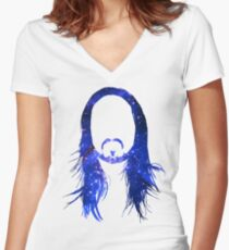 Steve Aoki Universe  Women's Fitted V-Neck T-Shirt