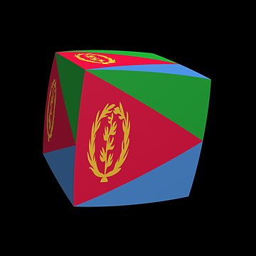 Eritrean flag cubed. by stuwdamdorp
