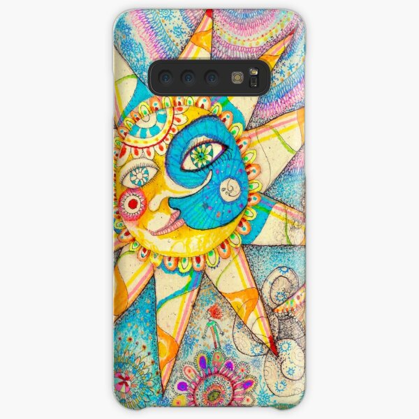 The Lady, The Sun and The Shooting Star Samsung Galaxy Snap Case