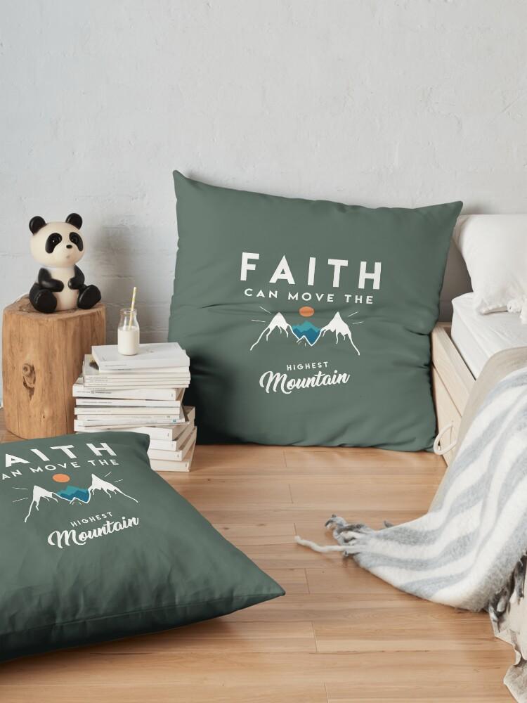 Vista alternativa de Cojines de suelo Cita de fe