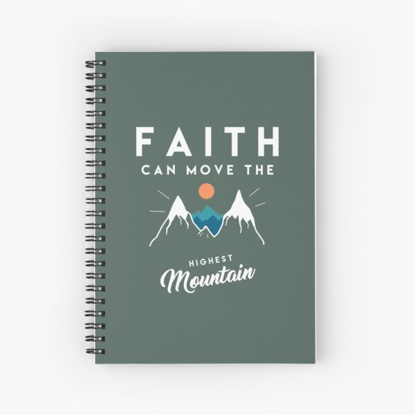 Faith Quote Spiral Notebook