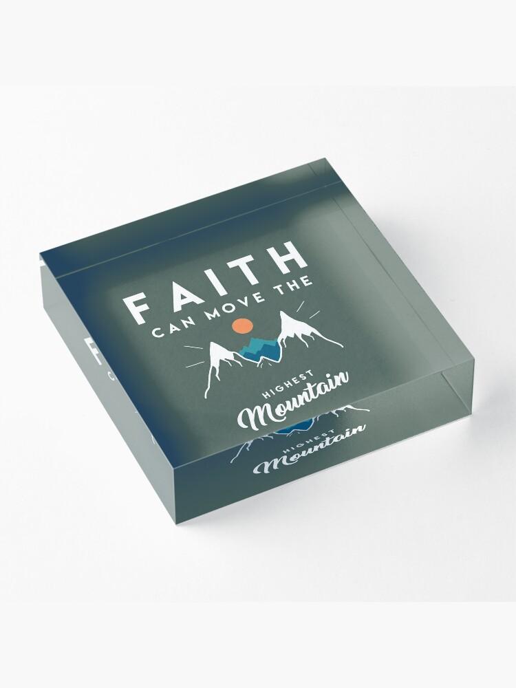 Alternate view of Faith Quote Acrylic Block