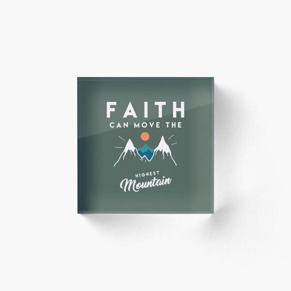 Faith Quote Acrylic Block