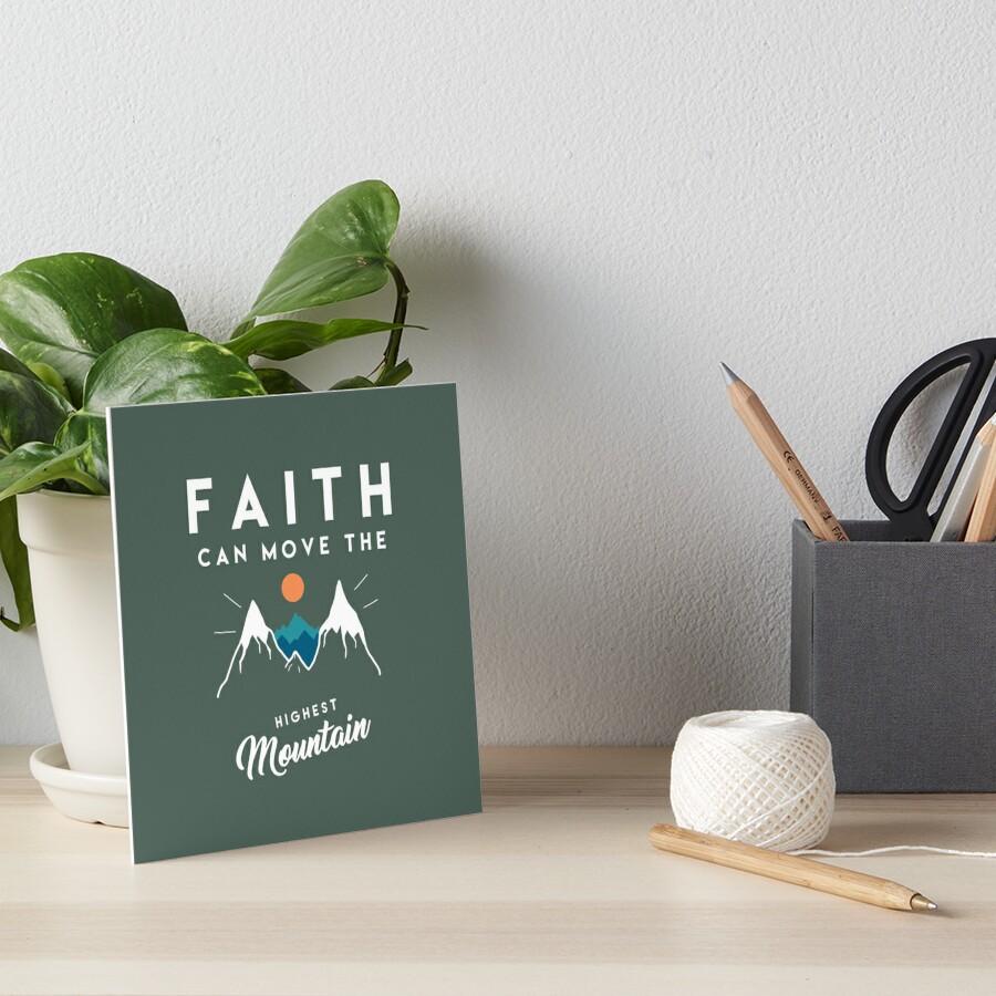 Faith Quote Art Board Print