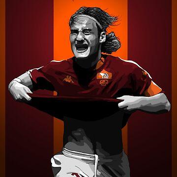 Francesco Totti - AS Roma by barrymasterson