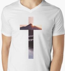 Christian Cross Men's V-Neck T-Shirt