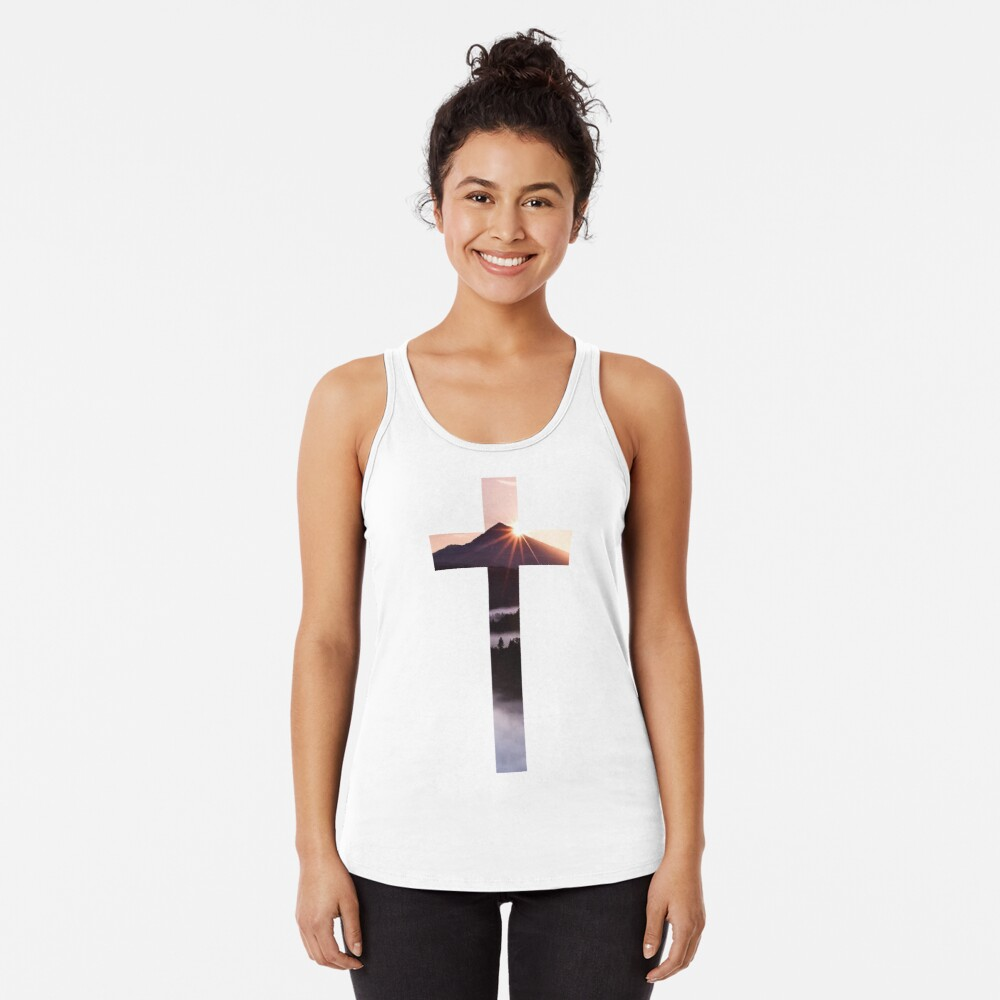 Christliches Kreuz Racerback Tank Top