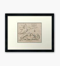 Vintage Map of Martha's Vineyard (1782) Framed Print