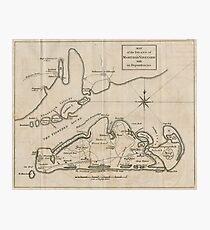 Vintage Map of Martha's Vineyard (1782) Photographic Print