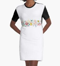 Hungarian embrodery design Graphic T-Shirt Dress