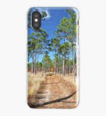 Dirt Road through a Longleaf Pine Forest iPhone Case/Skin