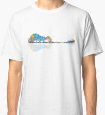 Natur-Gitarre - buntes Aquarell Classic T-Shirt