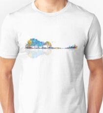Nature Guitar - Colorful Watercolor  Unisex T-Shirt