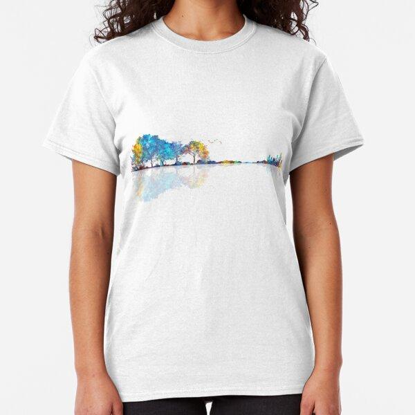 Nature Guitar - Colorful Watercolor  Classic T-Shirt