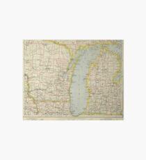 Vintage Map of Lake Michigan (1883) Art Board