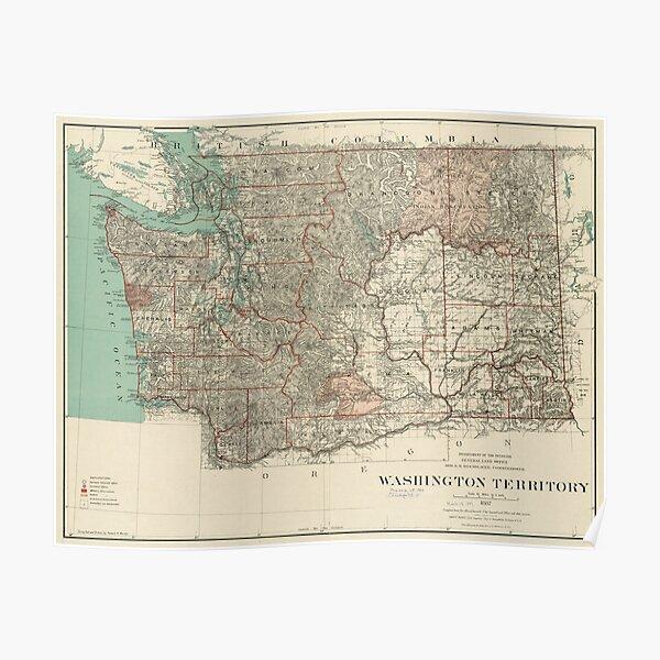 20x30 1893 Tacoma Washington Vintage Old Panoramic City Map