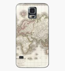 Vintage Map of The World (1832) Case/Skin for Samsung Galaxy