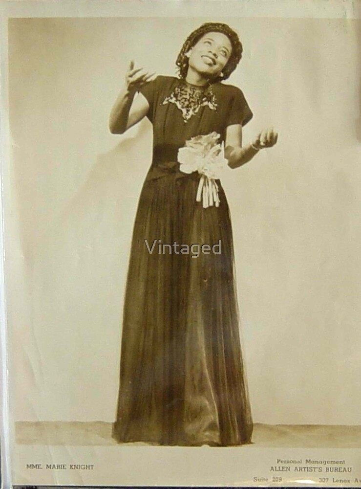 Mme. Marie Knight, Vintage, Black Gospel, Jazz, Blues, Female Singer by Vintaged