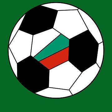 Bulgarian Soccer Ball - Bulgarian Football - Bulgarian Flag by Natalia-Art