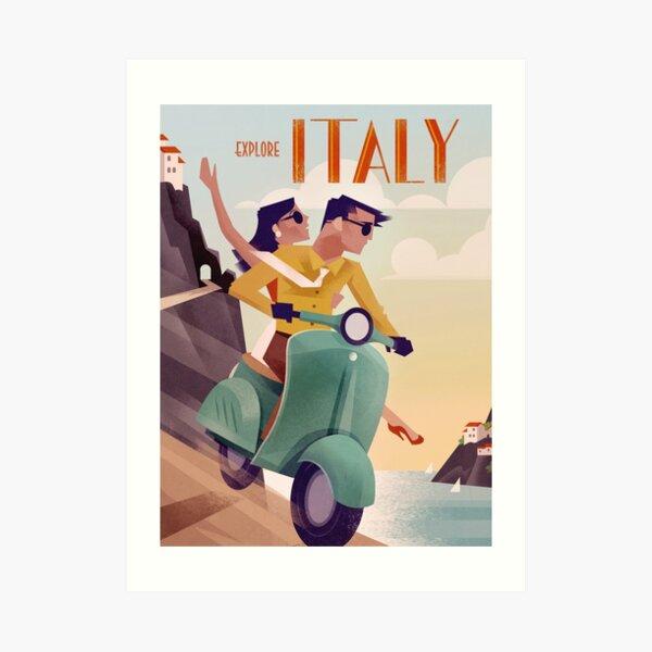 Italy Vintage Travel Poster Art Print