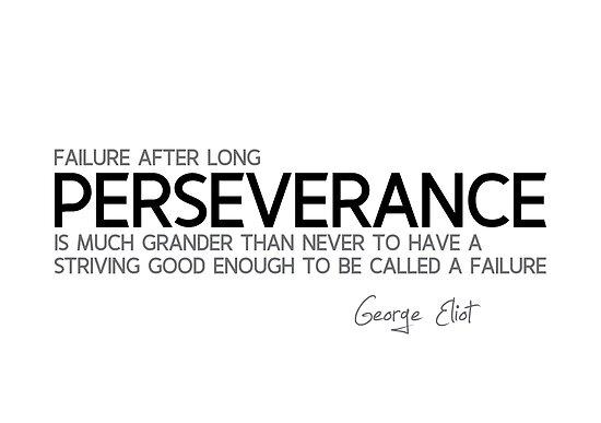 failure, long perseverance - george eliot by razvandrc