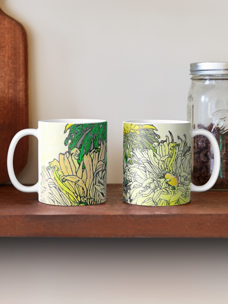 Alternate view of With Flowers Mug