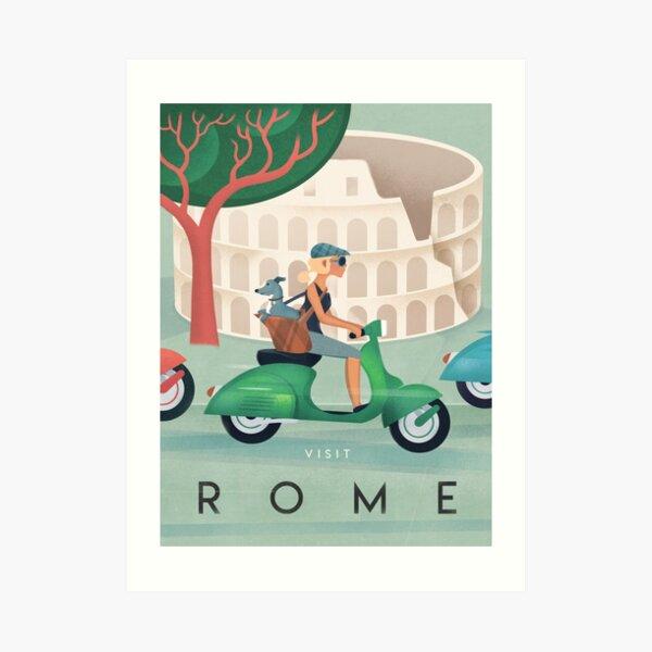 Rome Vintage Travel Poster Art Print