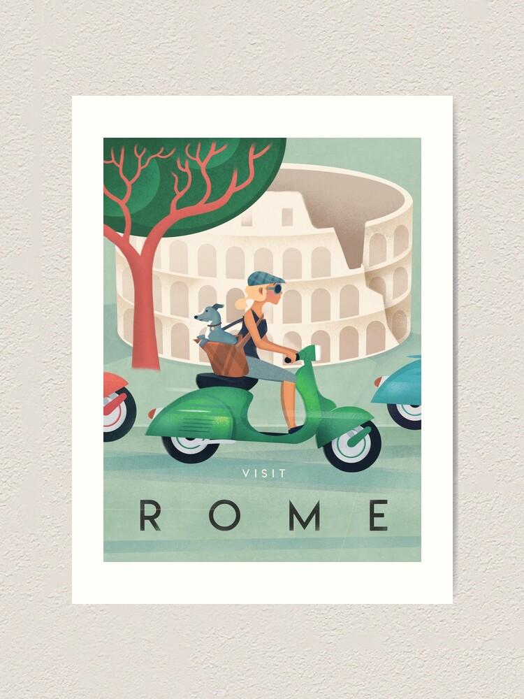 Alternate view of Rome Vintage Travel Poster Art Print