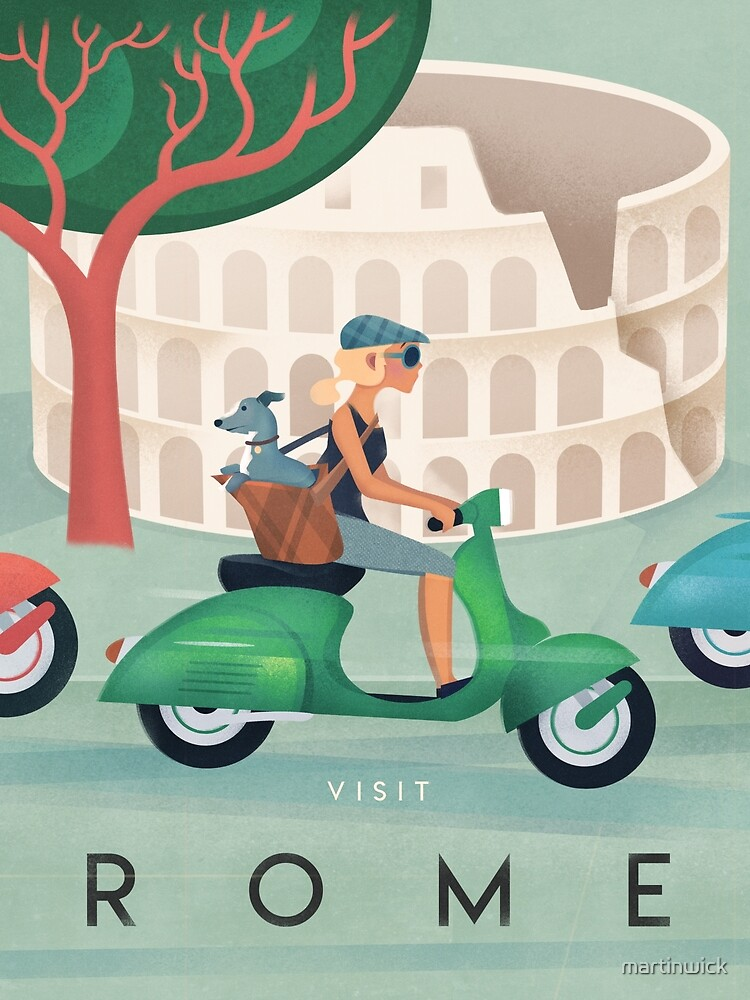 Rome Vintage Travel Poster by martinwick