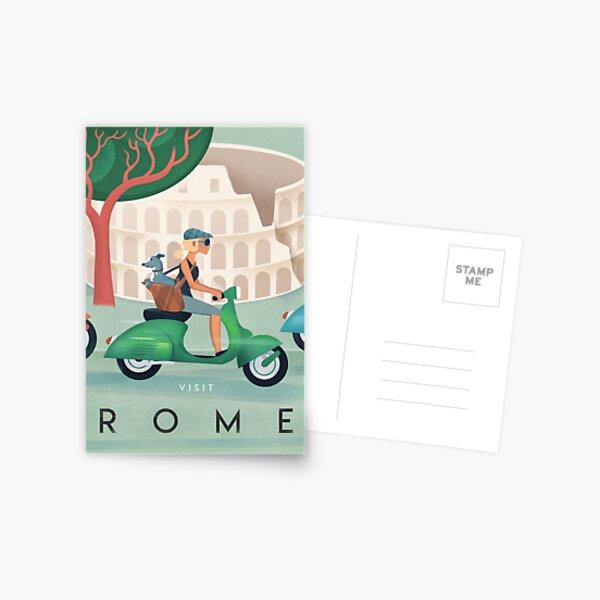 Rome Vintage Travel Poster Postcard