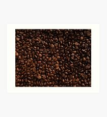 Rich Roasted Coffee Beans Textured Pattern Art Print