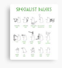 Specialist Daleks Metal Print