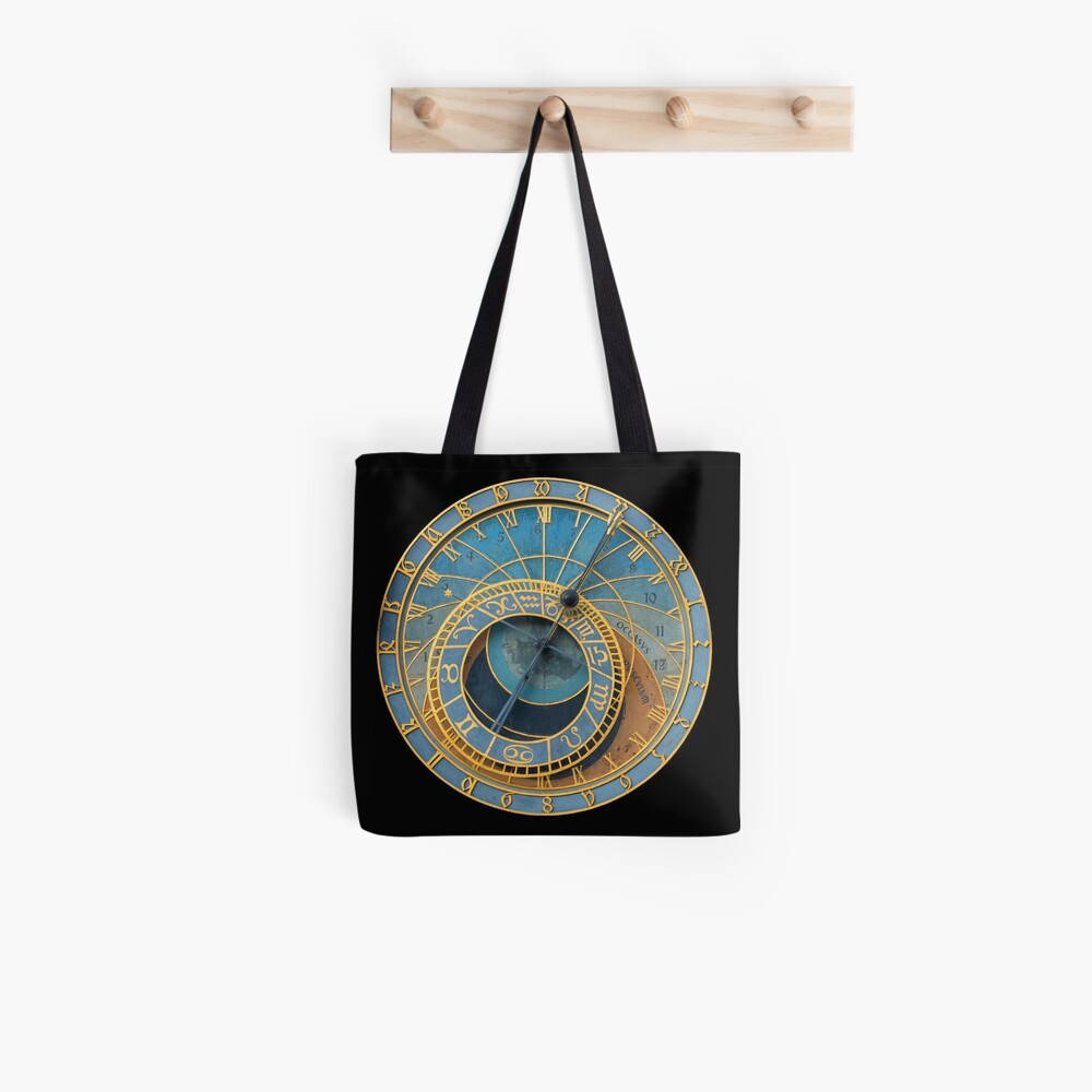 Stunning! Medievil Astronomical Clock or Prague Orloj in Prague / Praha Czech Republic - Professional Photo Tote Bag