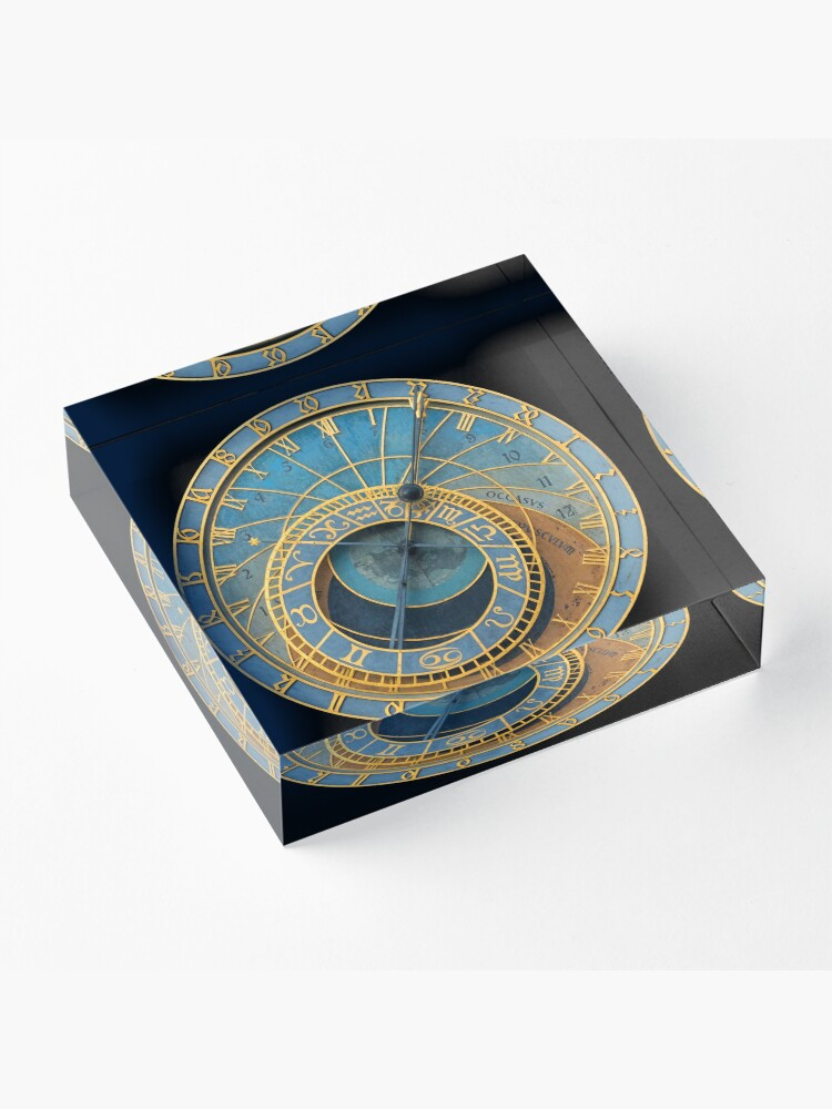 Alternate view of Stunning! Medievil Astronomical Clock or Prague Orloj in Prague / Praha Czech Republic - Professional Photo Acrylic Block