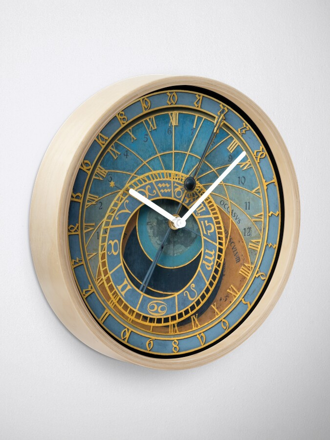 Alternate view of Stunning! Medievil Astronomical Clock or Prague Orloj in Prague / Praha Czech Republic - Professional Photo Clock
