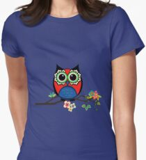Owl be watching you Womens Fitted T-Shirt