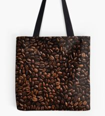 Rich Roasted Coffee Beans Textured Pattern Tote Bag