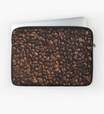 Rich Roasted Coffee Beans Textured Pattern Laptop Sleeve