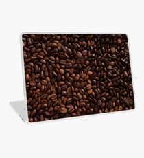 Rich Roasted Coffee Beans Textured Pattern Laptop Skin
