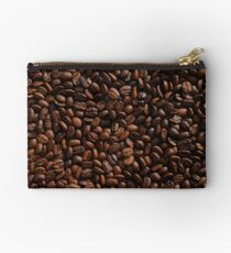 Rich Roasted Coffee Beans Textured Pattern Studio Pouch