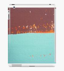 Abstract In Aqua, Chocolate and Orange iPad Case/Skin
