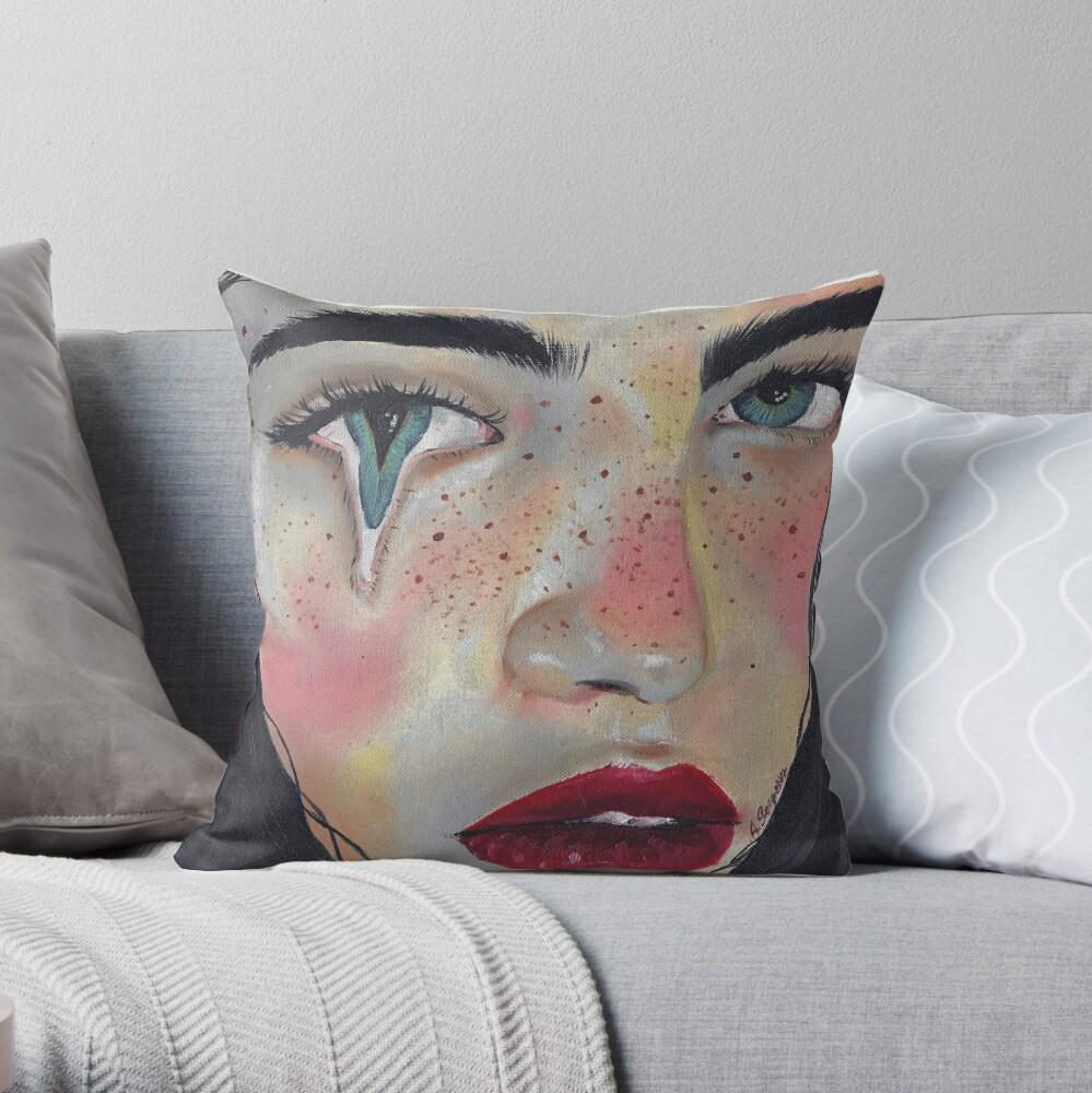 Human Throw Pillow By Albinasergeeva Redbubble