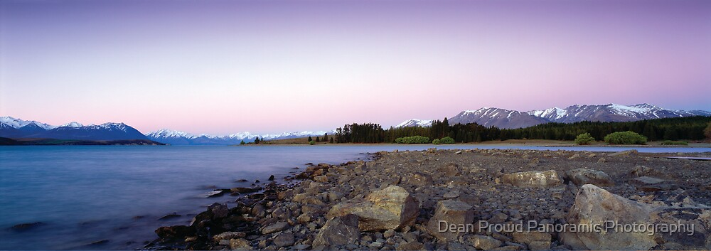 Lake Tekapo Sunset by Dean Prowd Panoramic Photography