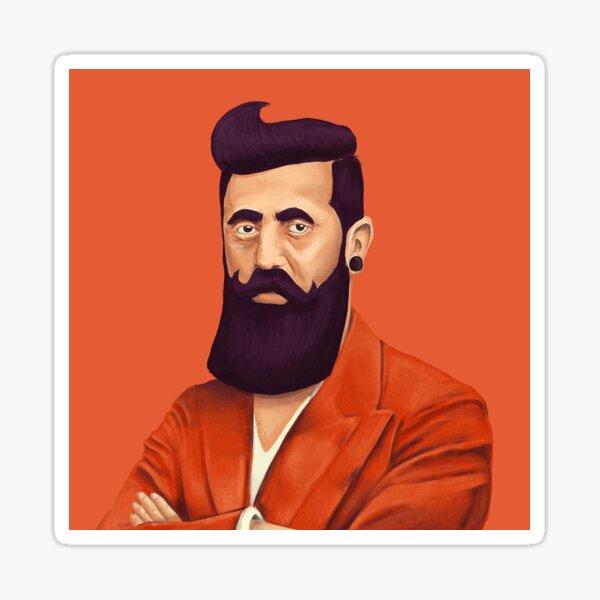 Hipster Theodore Herzl Sticker
